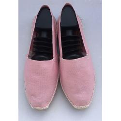 Authentiques espadrilles basques de couleur ROSE PASTEL