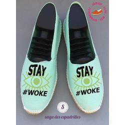 """Véritables espadrilles basques personnalisées """"stay woke"""""""