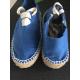 Espadrilles enfants modèle tuilière bleu