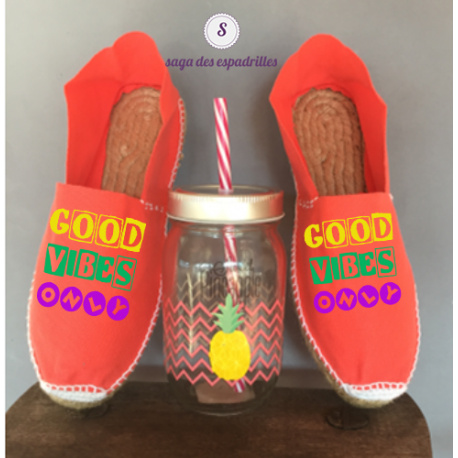 """Espadrilles """"Good Vibes Only"""""""