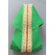 Véritables espadrilles basques unies vert prairie